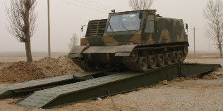 Tracked Load 60t Iron Mechanized Bridge For Medium Rivers