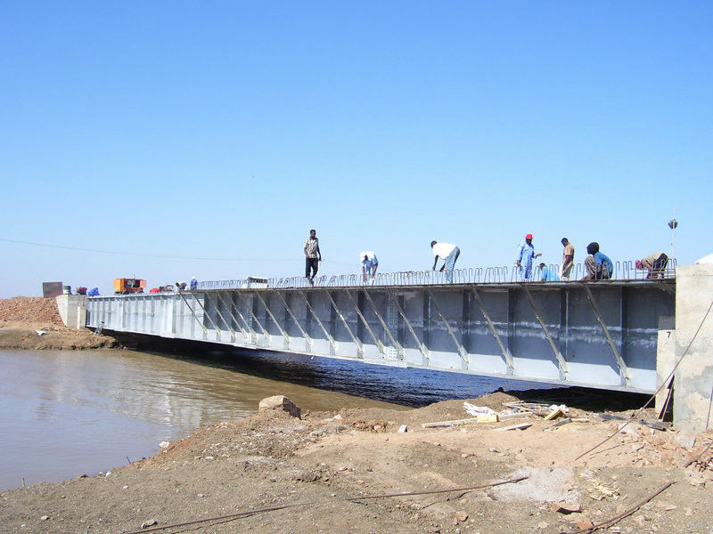 Custom Steel Girder Bridge / Steel Beam Bridge for Simple Structure